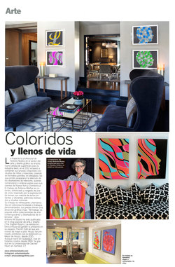 Art feature in Sambo magazine of Guayaquil, Ecuador, birthplace of Antonio Muñoz